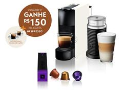 Kit Nespresso Essenza Mini White + Aeroccino3 com Kit Boas Vindas