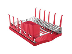 Escorredor de Louças Tramontina Plurale Aço Inox Vermelho