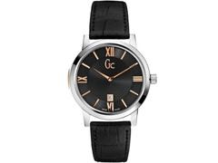 Relógio Gc Masculino Couro Preto - X60004g2s