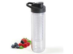 Squeeze Plástico com Infusor Transparente 800ml