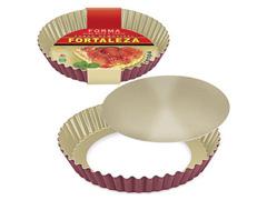 Forma Fortaleza para Bolo e Torta Crespa Fundo Removível Cereja Ø28 - 1