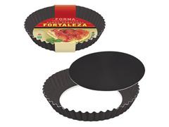 Forma Fortaleza para Bolo e Torta Crespa Fundo Removível Black Ø20