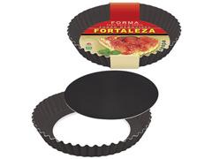 Forma Fortaleza para Bolo e Torta Crespa Fundo Removível Black Ø24 - 1