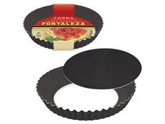 Forma Fortaleza para Bolo e Torta Crespa Fundo Removível Black Ø28 - 1