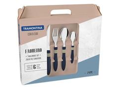 Faqueiro Tramontina Cor&Cor Azul 24 Peças - 1