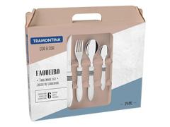 Faqueiro Tramontina Cor&Cor Branco 24 Peças - 1