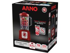 Liquidificador Arno Power Max 1000 15 Velocidades Vermelho 1000W - 4