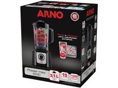 Liquidificador Arno Power Max 1000 15 Velocidades 1000W Preto - 4
