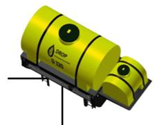 Máq. Drop cap. 320 l 1 bomba elétrica de menbrana - linha Smart