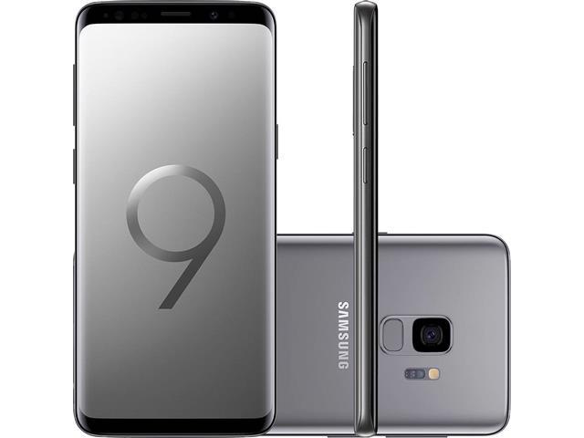 """Smartphone Samsung Galaxy S9 4G Dual Chip Tela 5.8"""" 128GB 12MP Cinza"""