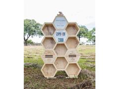 Hotel para abelhas solitárias