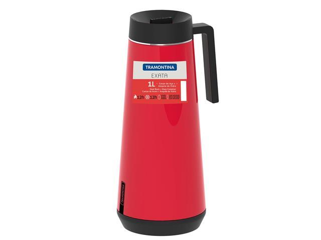 Bule Térmico Exata Tramontina com Infusor Vermelho 1 Litro