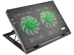 Cooler para Notebook Multilaser Warrior Power Gamer LED Verde AC267