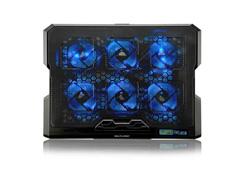 Cooler para Notebook Multilaser Com 6 Fans Led Azul Hexa Cooler - 1