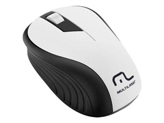 Mouse Sem Fio Multilaser 2.4Ghz Preto/Branco USB MO216
