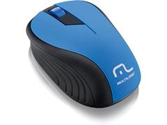 Mouse Sem Fio Multilaser 2.4Ghz Preto/Azul USB MO215