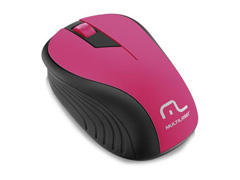 Mouse Sem Fio Multilaser 2.4Ghz Preto/Rosa USB MO214