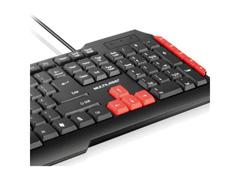 Teclado Multimídia Multilaser Gamer Red Keys USB TC160 - 1
