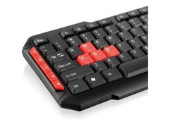 Teclado Multimídia Multilaser Gamer Red Keys USB TC160 - 2