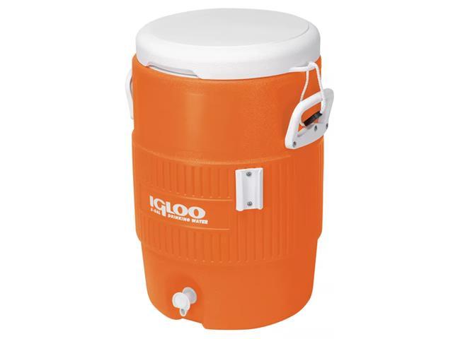 Cooler Térmico Igloo Gallon Seat Top com Torneira Laranja 18,9 Lts