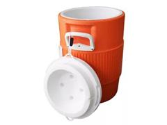 Cooler Térmico Igloo Gallon Seat Top com Torneira Laranja 18,9 Lts - 1