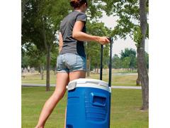 Cooler Térmica Igloo Sport 5 Gallon Roller com Torneira Azul 18,9 Lts - 3