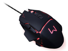 Mouse Gamer Multilaser USB 3200 DPI Warrior Preto - 7