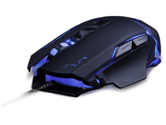 Mouse Gamer Multilaser USB 3200 DPI Warrior Preto - 1