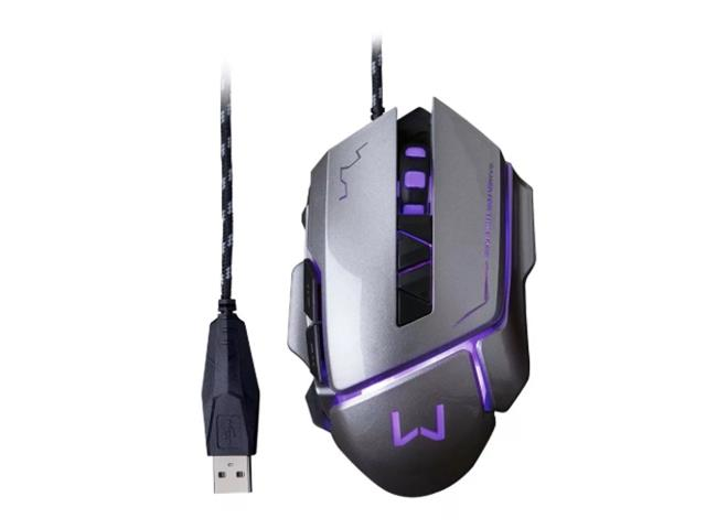 Mouse Gamer Multilaser USB 3200 DPI Warrior Grafite