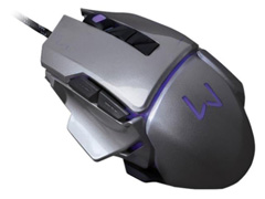 Mouse Gamer Multilaser USB 3200 DPI Warrior Grafite - 1