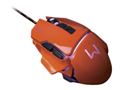 Mouse Gamer Multilaser USB 3200 DPI Warrior Laranja - 5