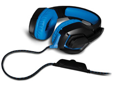Headset Gamer Warrior 2.0 Multilaser com LED USB Preto e Azul - 3