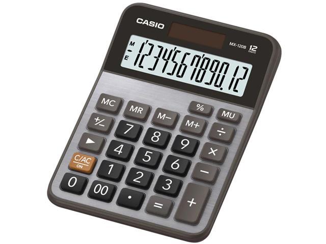 Calculadora Casio Digital Portátil 12 Dígitos MX-120B Preta