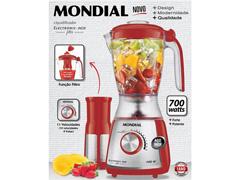 Liquidificador Mondial Eletronic Filter 10 V Inox e Vermelho 850W - 3