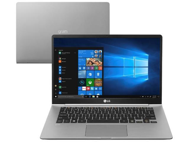 "Notebook LG Gram Intel®Core™i5 8ª geração 8GB SSD 256GB LED 14""Titânio"