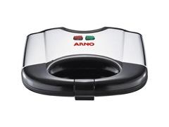 Sanduicheira Grill Arno Sacs Inox Preta/Prata