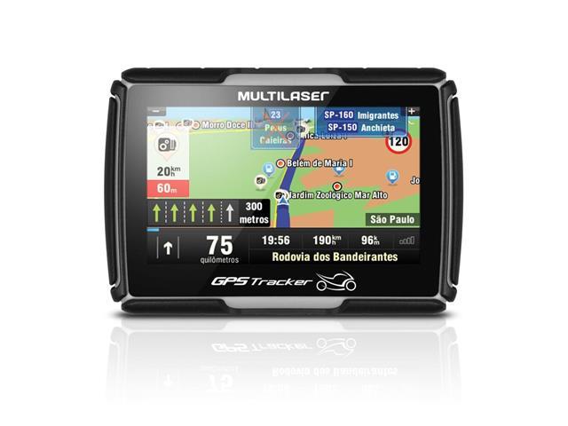 """GPS Para Moto Multilaser Tela 4.3"""" Função TTS Resistente a Água"""