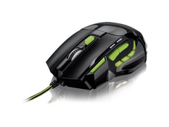 Mouse Gamer Multilaser Xgamer Fire Button 2400 DPI USB Verde - 1