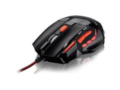 Mouse Gamer Multilaser Xgamer Fire Button USB 2400Dpi Preto e Vermelho - 1