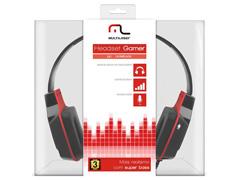 Headset Gamer Multilaser Earpad de Silicone P2 Preto e Vermelho - 4