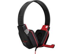 Headset Gamer Multilaser Earpad de Silicone P2 Preto e Vermelho