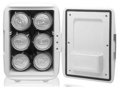 Mini Geladeira Multilaser 4L 6 Latas de 350ML Cabo DC Branca 12V 110V - 2