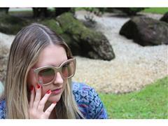 Óculos de Sol Acetato Rosé - 1