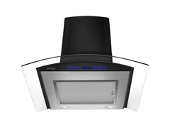 Coifa de Parede Cadence Gourmet Vidro Curvo 60cm Touch Preta - 1