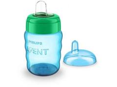 Copo Easy Sip Cup Com Bico De Silicone Philips Avent 260Ml Menino