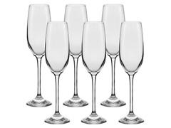 Conjunto Oxford Alumina Crystal Com 4 Taças De Cristal Espumante 19ml