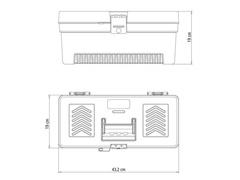 Caixa Plástica Tramontina para Ferramentas 17 Pol. C/Bandeja Removível - 2