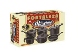 Conjunto Maxxima Fortaleza 06 Pçs  c/ Panela de Pressão Black - 2
