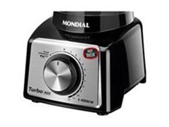 Liquidificador Turbo Black Inox 3L 1200W 12 Velocidades Mondial - 1