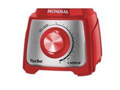 Liquidificador Turbo Red Inox 3L 1200W 12 Velocidades Mondial - 1
